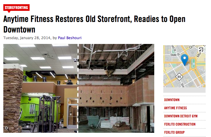 Anytime Fitness Restores Old Storefront, Readies to Open Downtown
